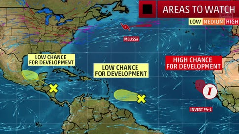 Three Areas in the Atlantic Could Develop into Tropical Systems