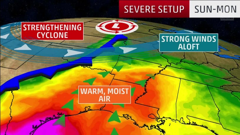 Severe Threat for Middle of U.S. Starting Sunday