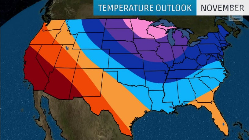 November Temperature Outlook Is in