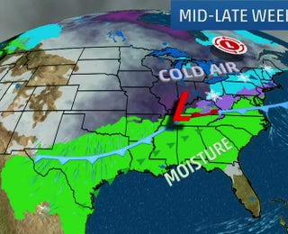 Mucha Lluvia Y Posible Nieve Para El Final De La Semana Videos De The Weather Channel Weather Com
