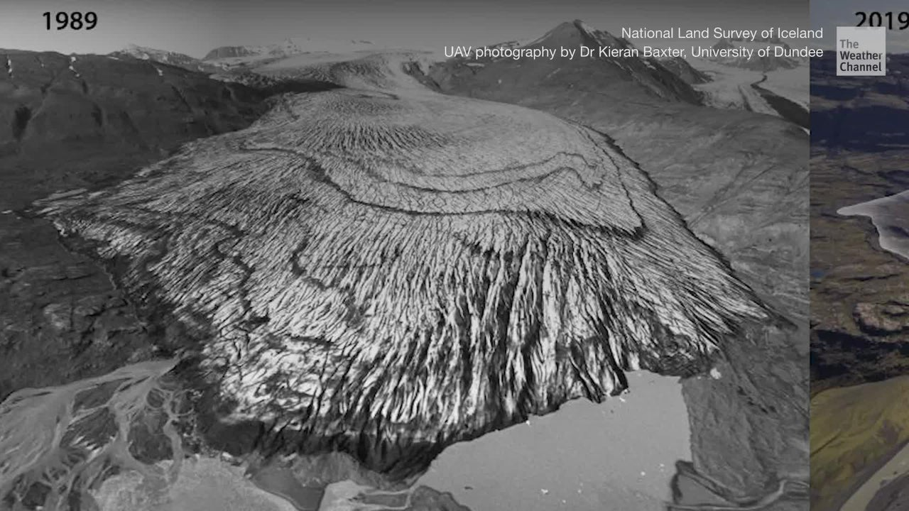 Before and After Photos Show Disappearing Glaciers in Iceland