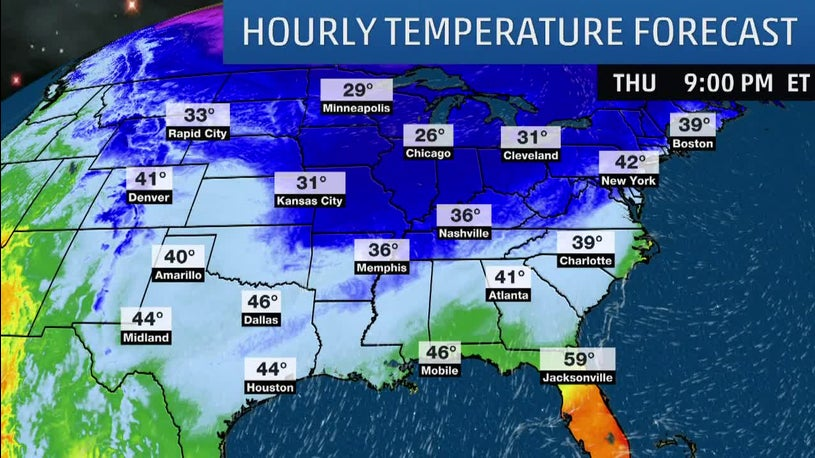 Record Breaking Cold Temperatures Slowly Rebounding Today