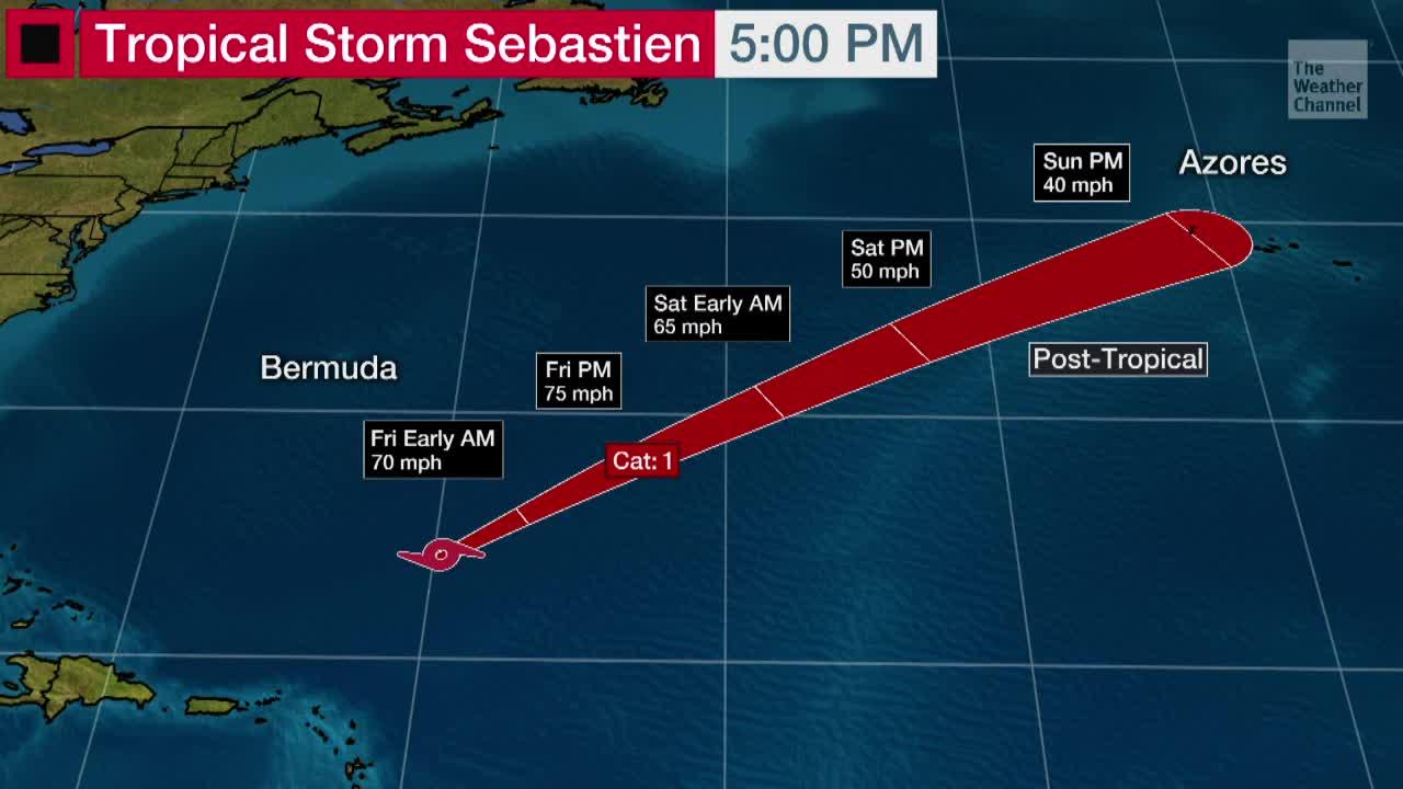 Tropical Storm Sebastien Could Become Rare Late-Season Hurricane