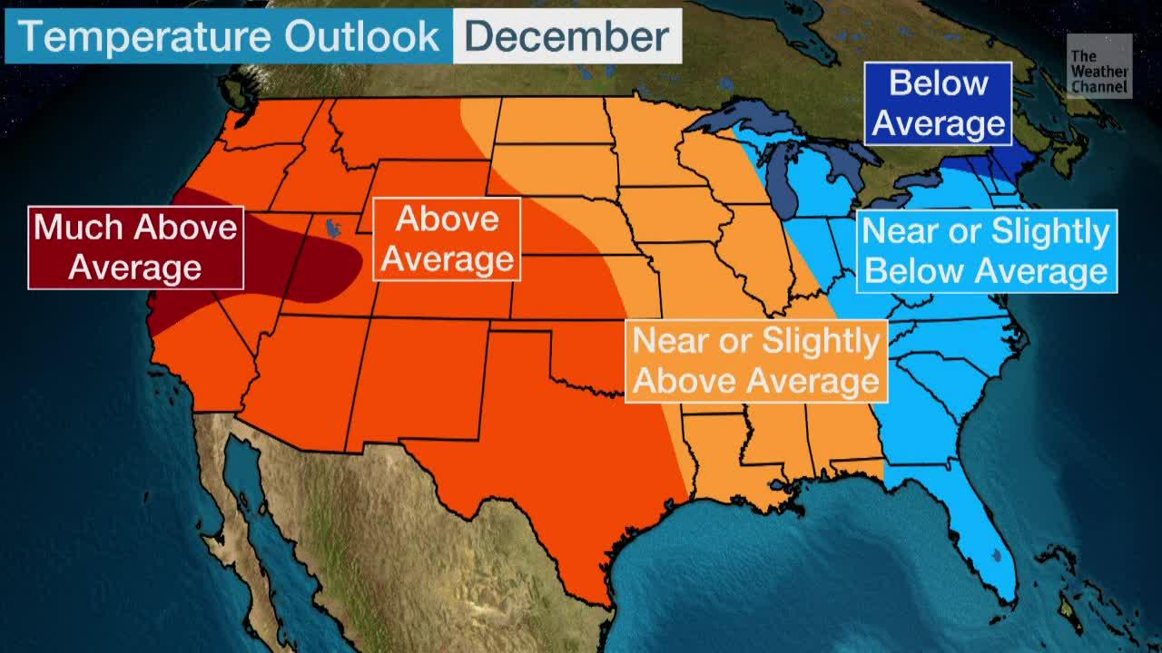 U.S. Temperature Outlook for December 2019