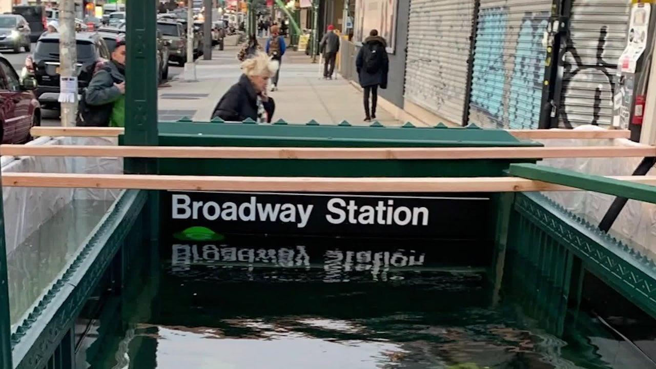 ¿Por qué se inundó esta estación del subway?
