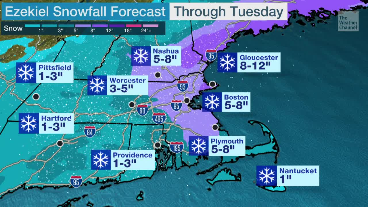 Snowy Evening Ahead for Boston Area
