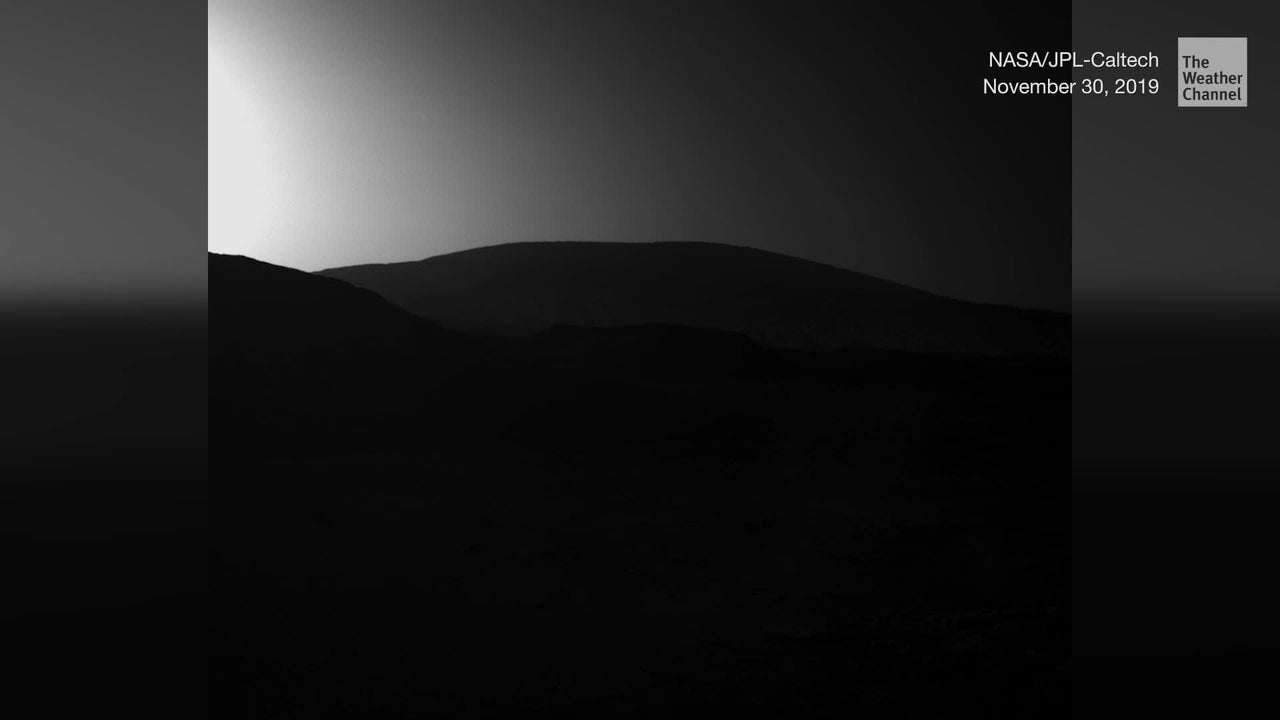 NASA's Curiosity Rover sent back this image from Thanksgiving weekend.