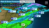 Rain, Snow to Start Week for Upper Midwest to Mid-South, Northeast