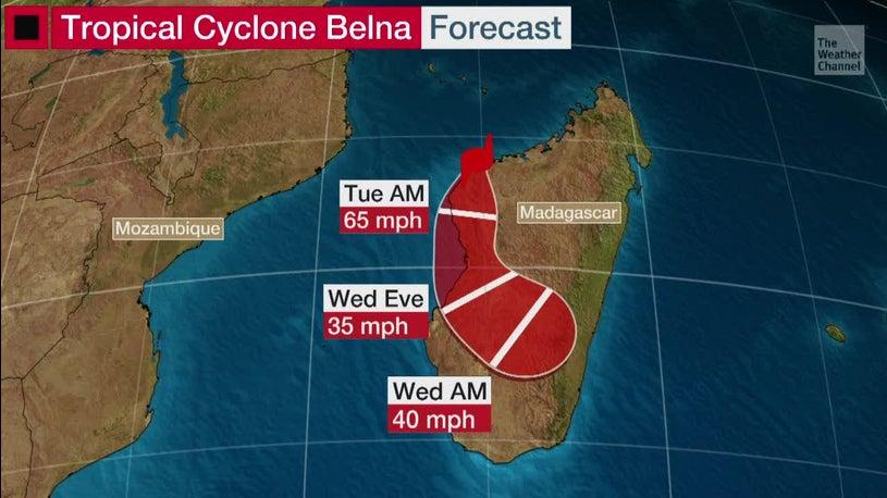 Tropical Cyclone Belna Makes Landfall in Madagascar
