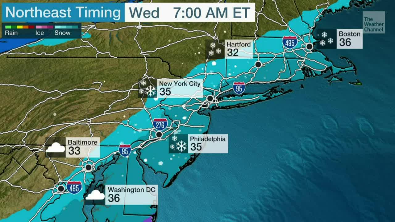 El tráfico de este miércoles será más lento para muchos a lo largo del corredor de la I-95 por una ronda de lluvia, seguida por una de nieve.