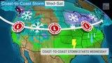 Nueva tormenta atravesará el país con nieve, hielo y lluvia
