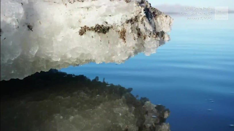 Mystery Mounds Appear in Utah's Great Salt Lake