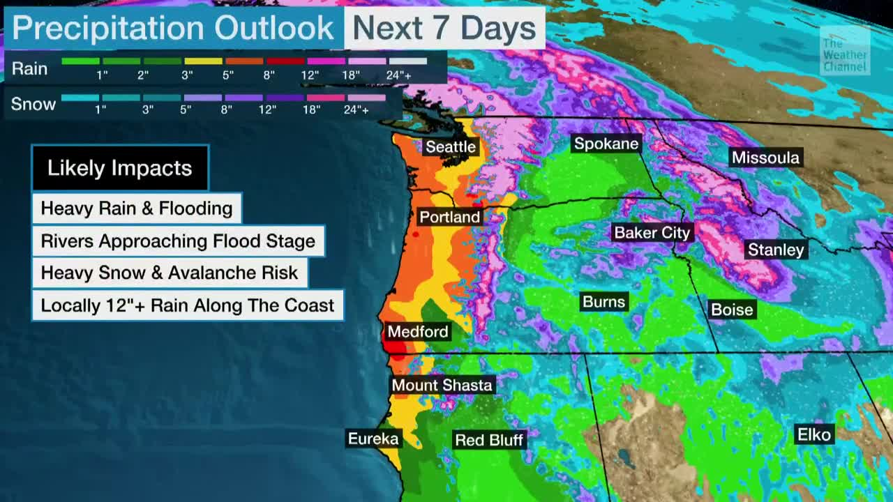 Storm After Storm Continue for Pacific Northwest