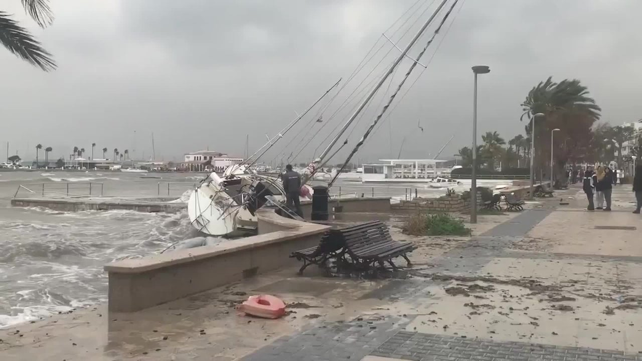Residents in Spain are surveying the damage from Storm Gloria. In Mallorca, huge waves and strong winds sank boats and tossed them ashore like toys.