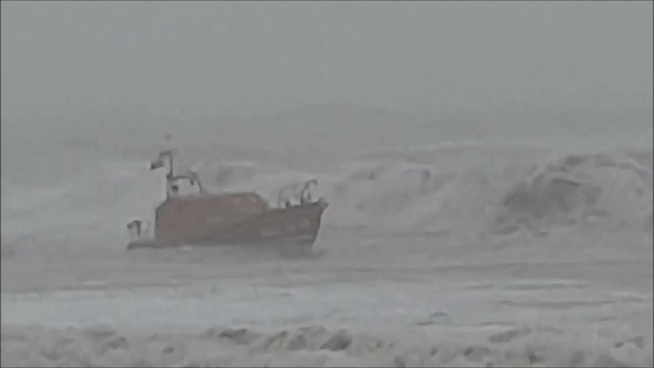 Incredible Lifeboat Rescue in Rough Seas
