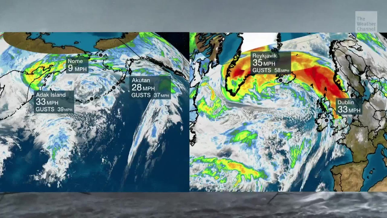 Storms in North Atlantic and North Pacific Packing a Punch