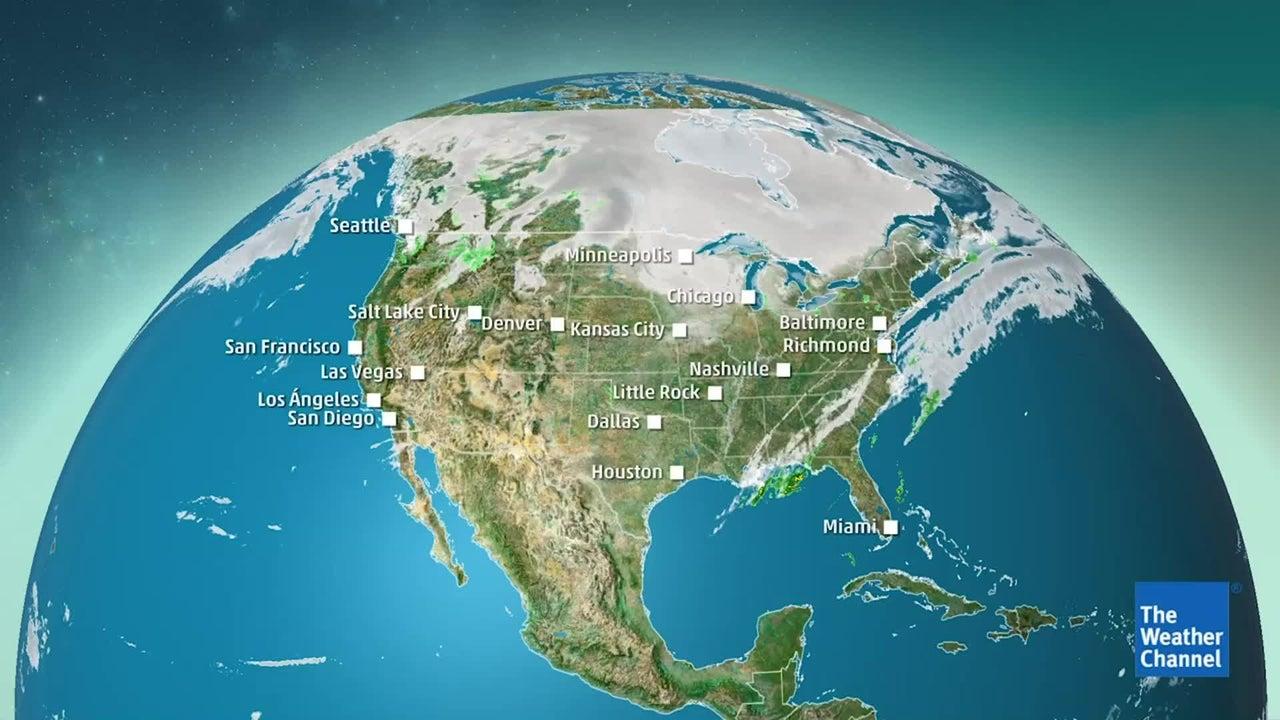 Pronóstico de nieve en el oeste y medio oeste