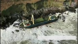 Storm Dennis Washes Ghost Ship Ashore in Ireland
