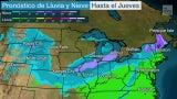 Fusión de dos tormentas traerá abundante lluvia y nieve