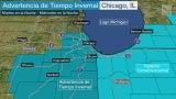 Vientos y nieve azotarán Chicago