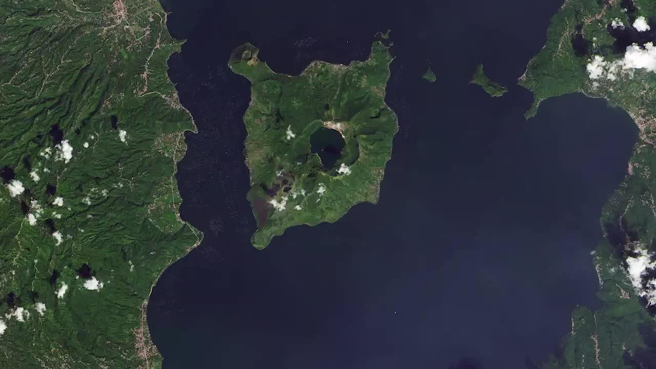 Volcano Ash Turns Lush Island Gray
