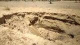Farm in Indien: Senkloch bringt Boden zum zerbröseln