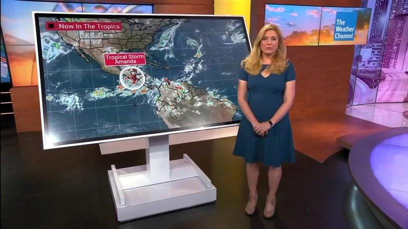 ¿Podría la tormenta tropical Amanda desencadenar el desarrollo del Golfo?