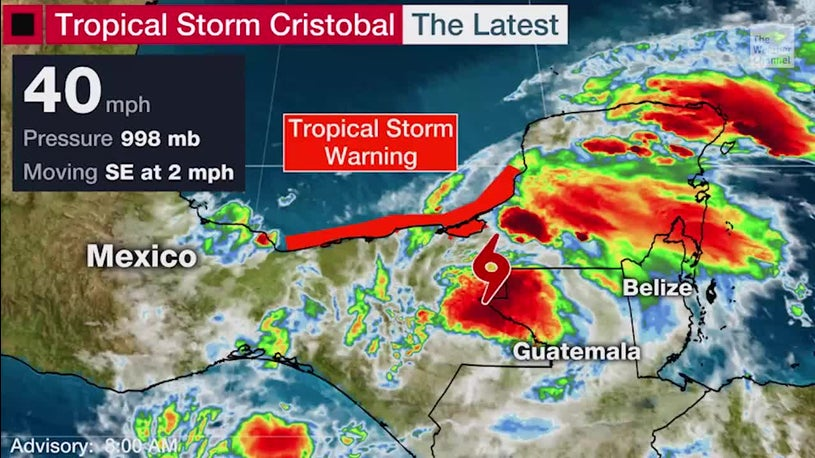 Cristobal Still Hovering Over Mexico