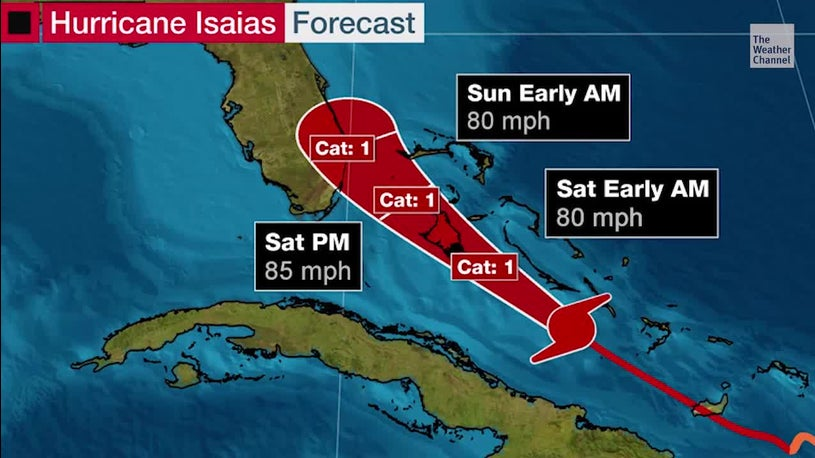 Hurricane Warnings Included on the Florida Coast as Isaiah's Strategy