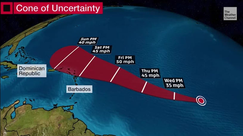 Tropical System To Intensify in the Atlantic Ocean