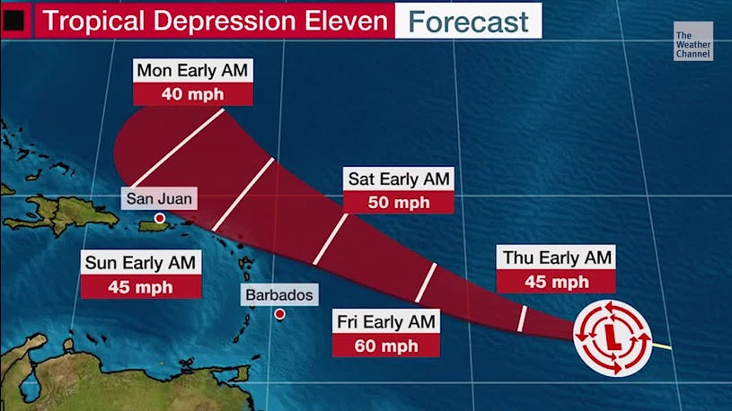 Depression Expected to Strengthen into Tropical Storm