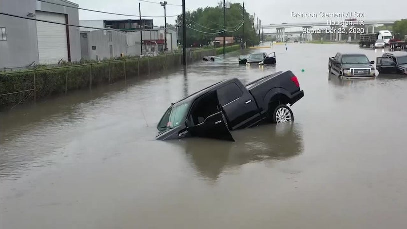 Much of Houston Flooded in Deluge from Beta