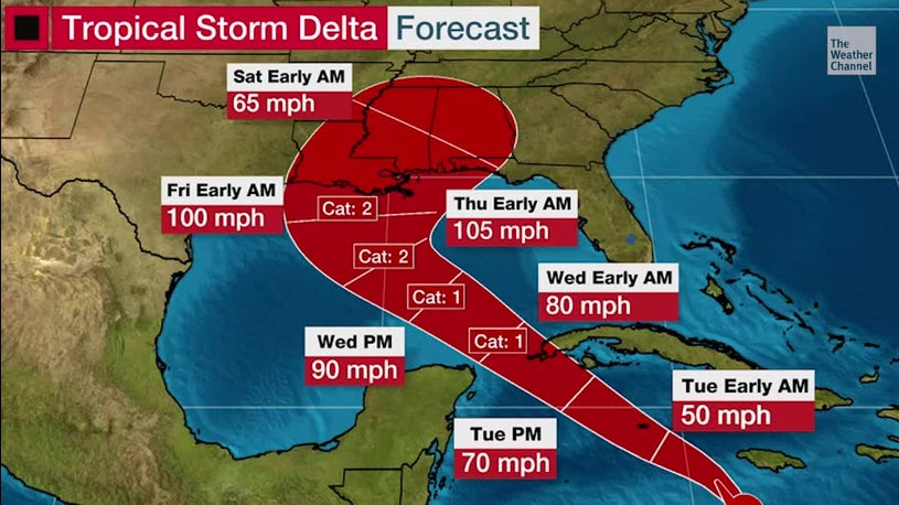Tropical Storm Delta Forms, Could Pose Hurricane Threat to Gulf Coast