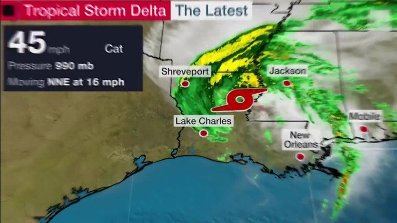 Delta Heading Inland After Lashing Louisiana