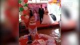 Floodwaters Swamp Wedding Reception in Vietnam