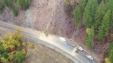 Landslide in Dixie Fire Burn Scar Sends Debris Over Road in Northern California