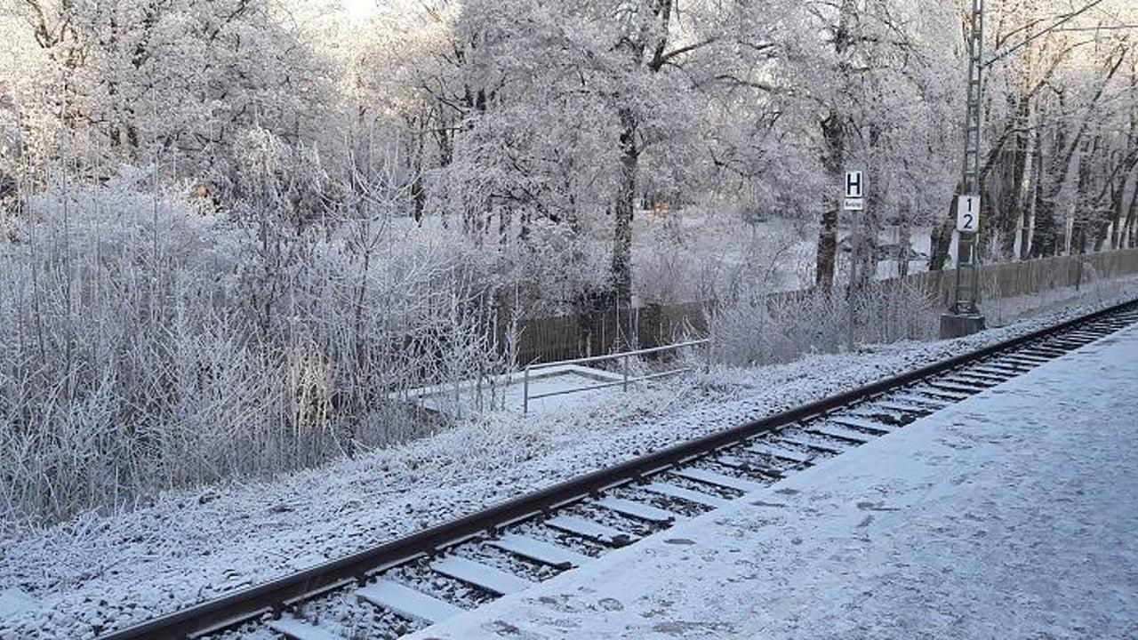 München ist weiß, obwohl kein Schnee fiel