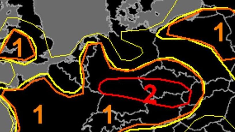 Unwetterwarnung: Hier könnten Tornados entstehen