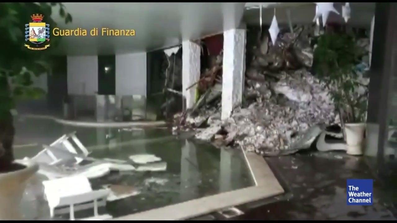 Dramatisch: Erste Bilder aus dem Hotel