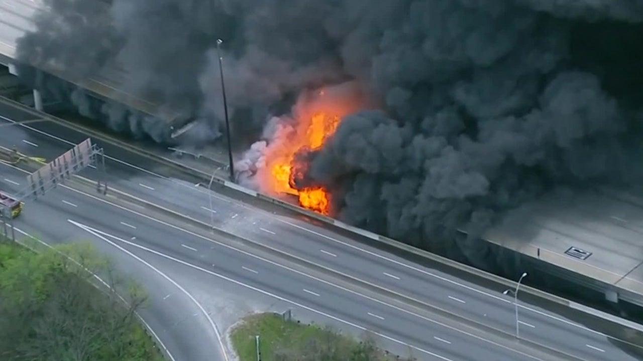 Atlanta: Gigantisches Feuer lässt Brücke  einstürzen