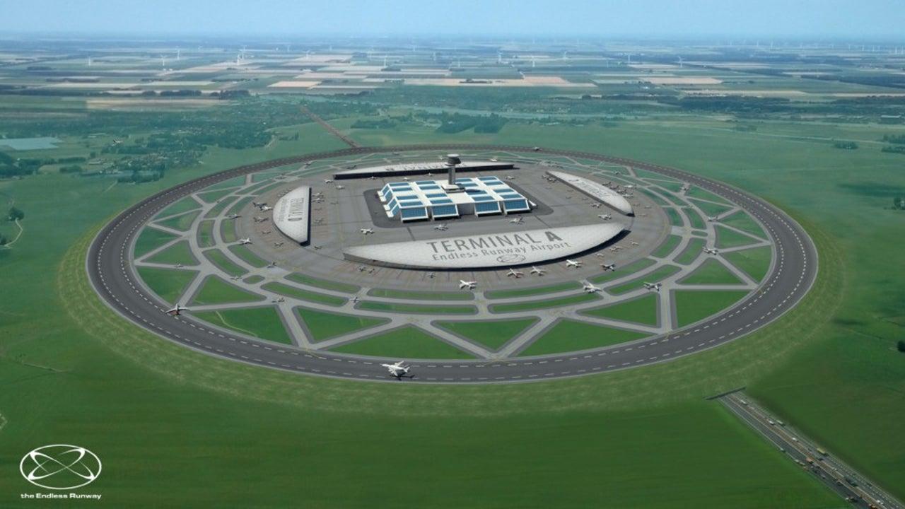 Flughafen der Zukunft: Runde Startbahn soll Sicherheit erhöhen