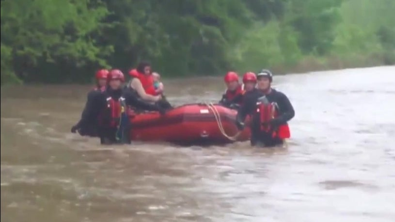 Woman, Child Rescued From Flood waters