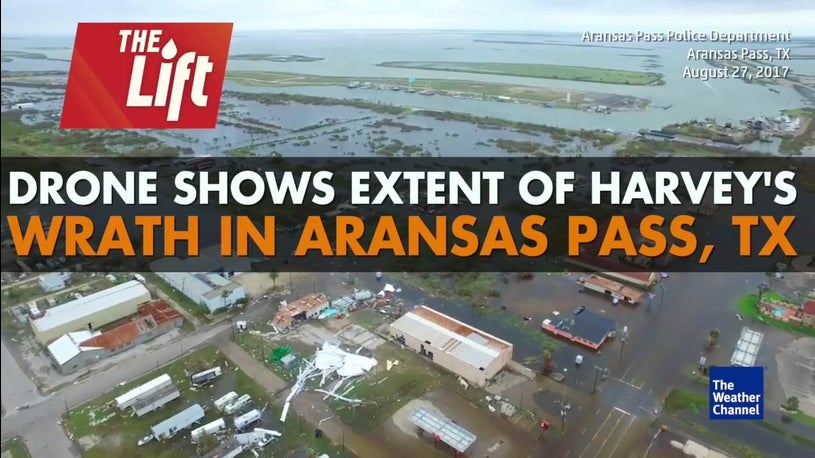 Drone Shows Extent of Damage in Aransas Pass