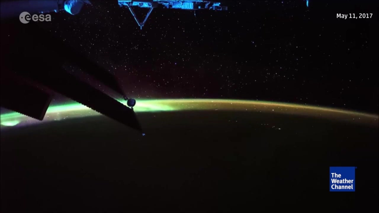 Watch: Aurora seen from space station