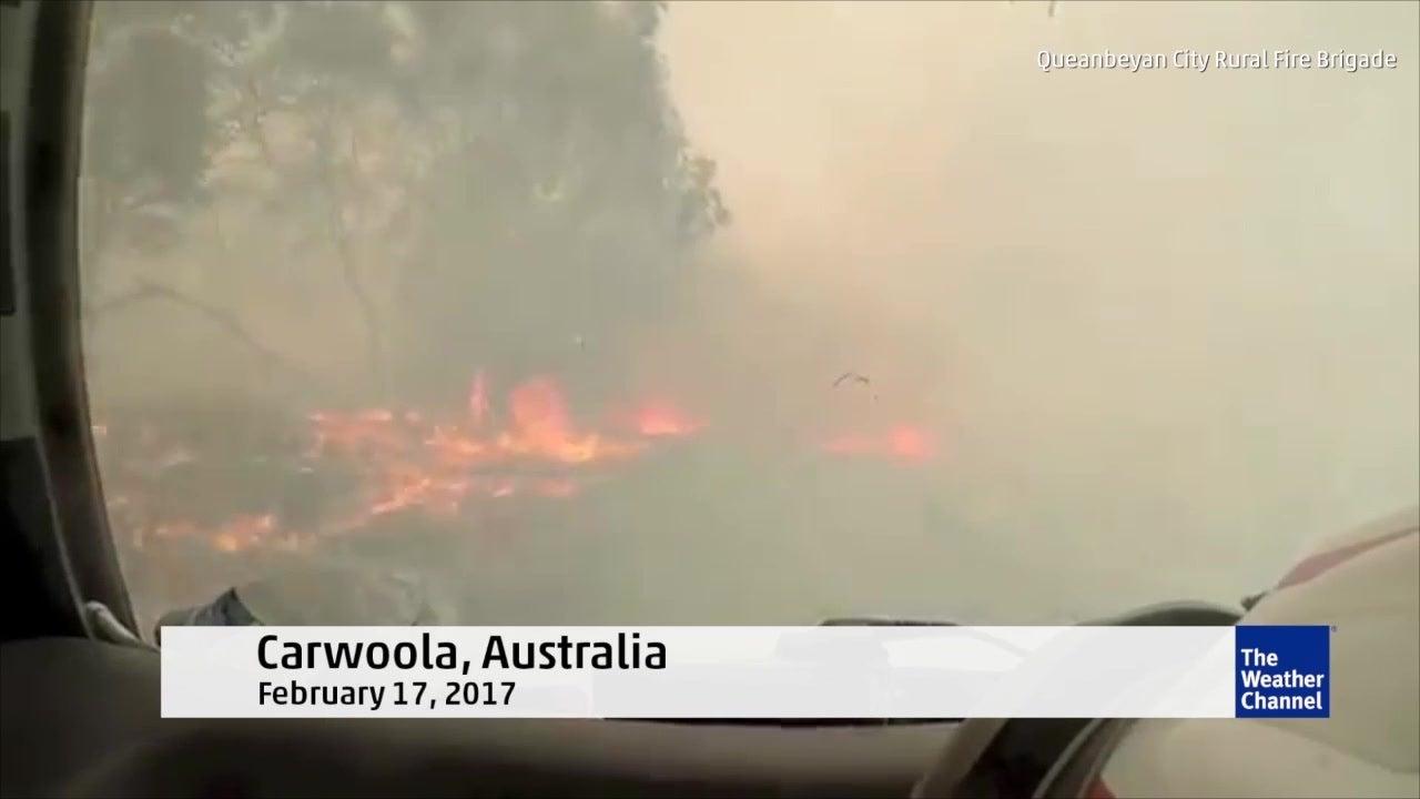 Watch: New video from damaging Australia fire
