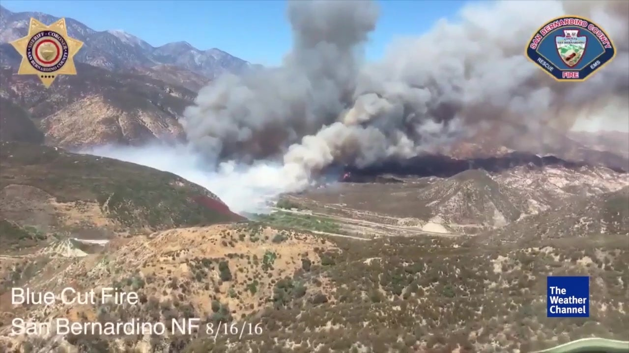 Evacuations as Blue Cut Fire Approaches