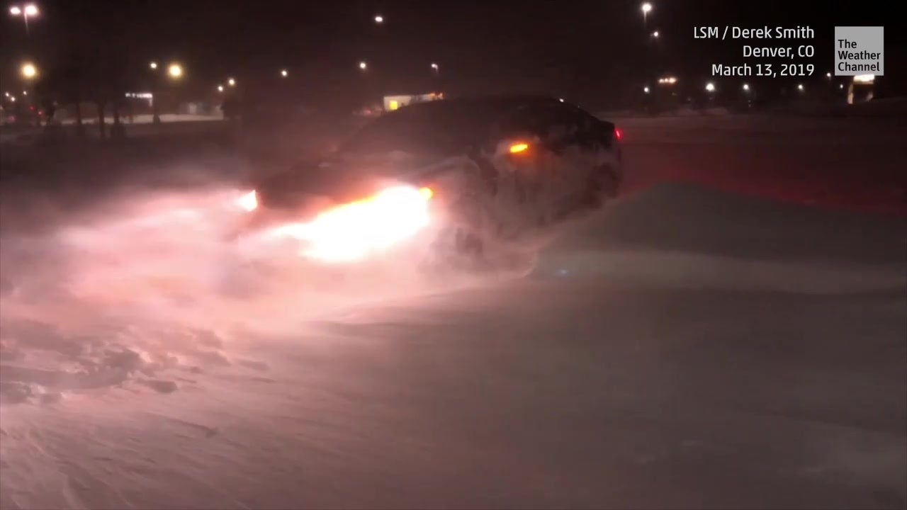 Cars Buried in Winter Storm Ulmer