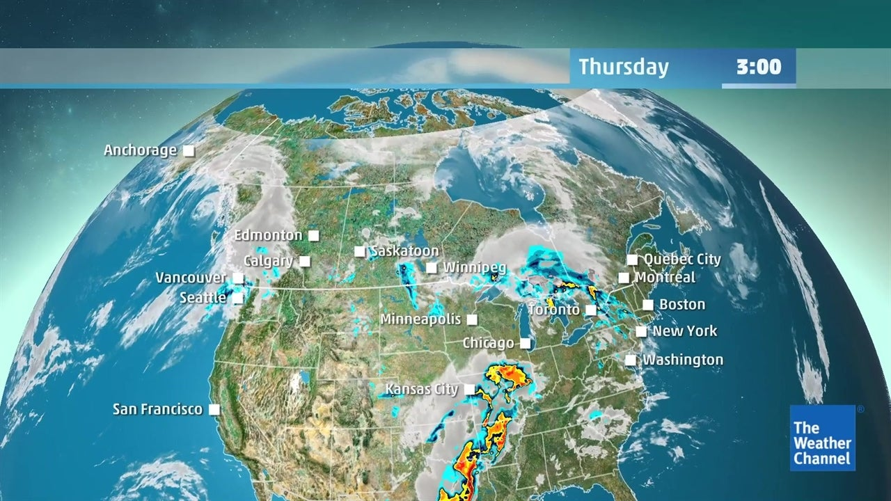 WATCH: Latest Canada forecast for this weekend | The Weather