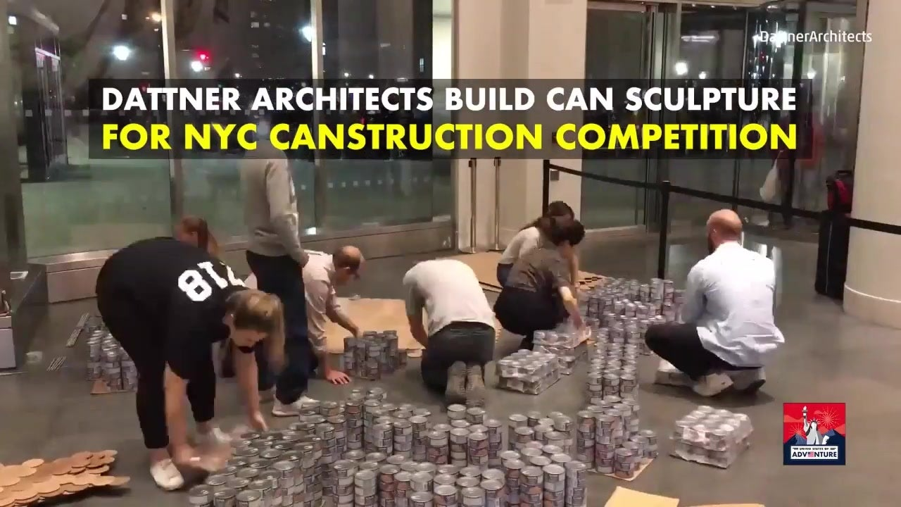 Architects Build Can Sculpture