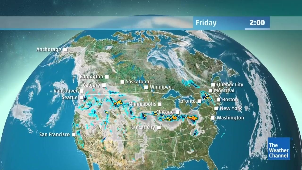 WATCH: Check out the latest detailed forecast for Canada from May 17th to May 20th